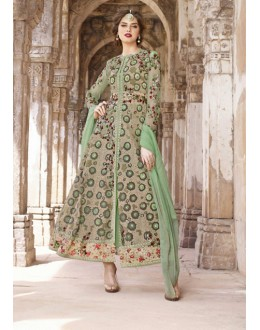 Ethnic Wear Multi-Colour Net Slit Anarkali Suit  - 1446