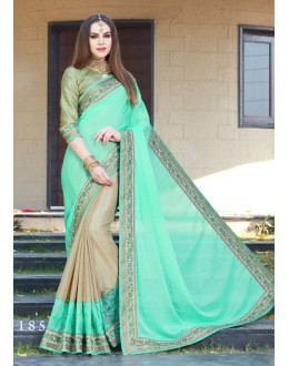 Chiffon Multi-Colour Half & Half Saree  - GT-MAREEYA-185