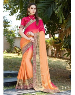 Chiffon Multi-Colour Embroidery Saree  - GT-MAREEYA-187