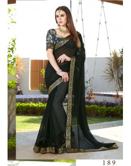 Ethnic Wear Black Georgette Saree  - GT-MAREEYA-189