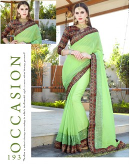 Festival Wear Light Green Saree  - GT-MAREEYA-193