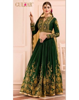 Wedding Wear Green & Beige Art Silk Lehenga Choli - L-15