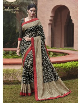 Casual Wear Black Salem Silk Saree - VIPUL-30322