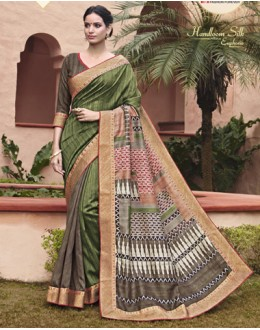 Party Wear Green Salem Silk Saree - VIPUL-30325