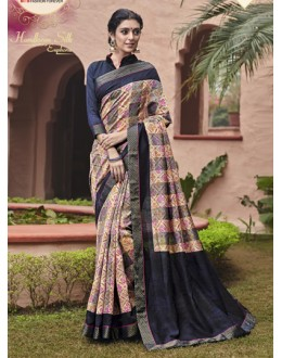 Ethnic Wear Multi-Colour Salem Silk Saree - VIPUL-30327