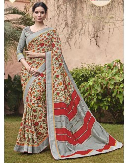 Ethnic Wear Multi-Colour Salem Silk Saree - VIPUL-30330
