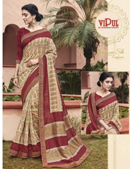 Festival Wear Beige Salem Silk Saree - VIPUL-30332