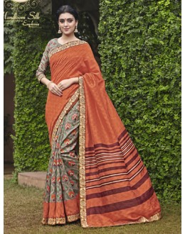 Ethnic Wear Multi-Colour Salem Silk Saree - VIPUL-30334