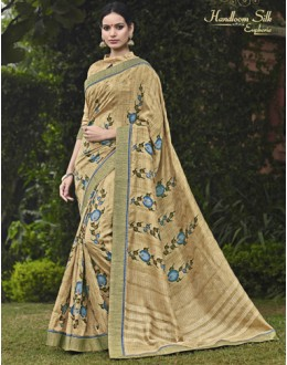 Festival Wear Beige Salem Silk Saree - VIPUL-30335