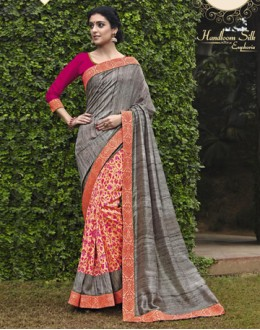 Ethnic Wear Multi-Colour Salem Silk Saree - VIPUL-30337