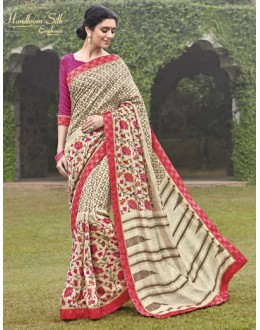Party Wear Beige Salem Silk Saree - VIPUL-30338