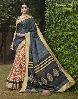Ethnic Wear Multi-Colour Salem Silk Saree - VIPUL-30339