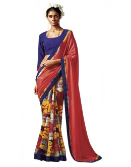 Casual Wear Multi-Colour Silk Saree - HAWWAH-803