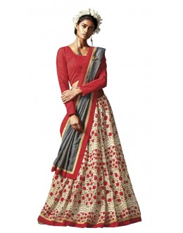 Ethnic Wear Multi-Colour Silk Saree - HAWWAH-804