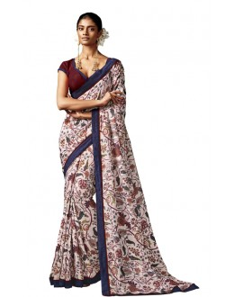 Party Wear Multi-Colour Silk Saree - HAWWAH-807