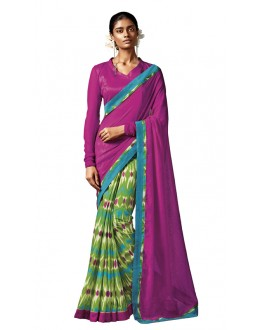 Ethnic Wear Multi-Colour Silk Saree - HAWWAH-810