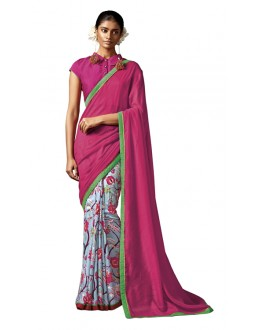 Party Wear Multi-Colour Silk Saree - HAWWAH-811
