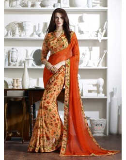 Ethnic Wear Multi-Colour Georgette Saree  - KESSI-4901