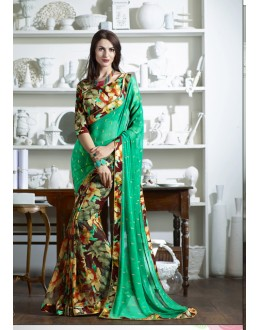 Ethnic Wear Multi-Colour Foil Fancy Saree  - KESSI-4905