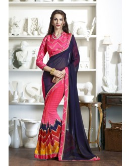 Multi-Colour Pedding Fancy Half & Half Saree  - KESSI-4908