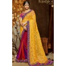 Party Wear Multicolour Brasso Saree  - 808