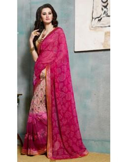 Casual Wear Multicolour Viscose Georgette Saree  - 4110