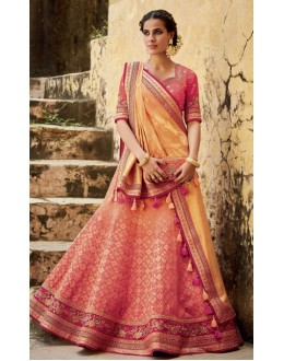 Wedding Wear Peach Lehenga Choli - KIMORA-L-509