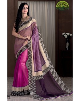 Ethnic Wear Multicolour Bhagalpuri Khadi Silk Saree  - 1803-A