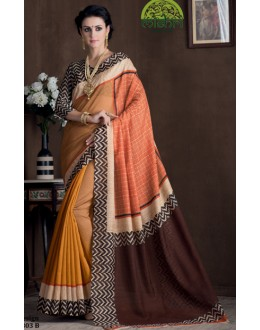 Casual Wear Multicolour Bhagalpuri Khadi Silk Saree  - 1803-B