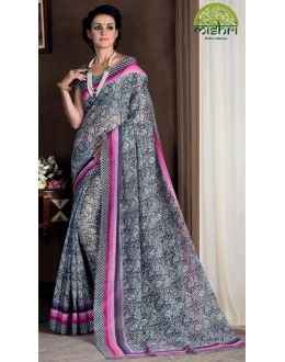 Festival Wear Grey Bhagalpuri Khadi Silk Saree  - 1806-B