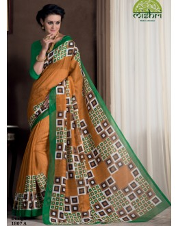 Casual Wear Yellow Bhagalpuri Khadi Silk Saree  - 1807-A