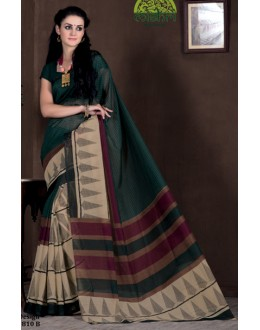 Festival Wear Green Bhagalpuri Khadi Silk Saree  - 1810-B