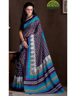 Casual Wear Multicolour Bhagalpuri Khadi Silk Saree  - 1811-A