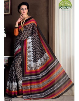 Ethnic Wear Multicolour Bhagalpuri Khadi Silk Saree  - 1811-B