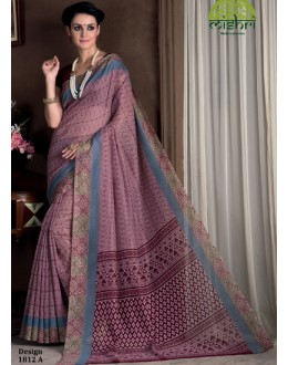 Ethnic Wear Light Pink Bhagalpuri Khadi Silk Saree  - 1812-A
