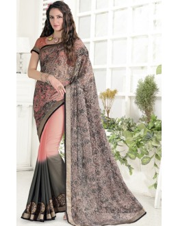 Festival Wear Multicolour Georgette Saree  - 1915