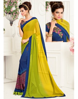 Ethnic Wear Multicolour Georgette Saree  - 1916