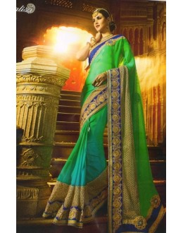 Wedding Wear Multicolour Crepe Chiffon Saree  - 504