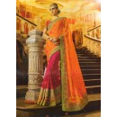 Ethnic Wear Orange & Pink Georgette Saree  - 505