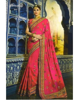 Festival Wear Pink Soft Georgette Saree  - 513