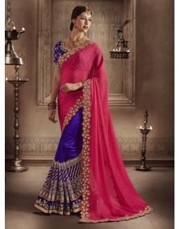 Marble Rani & Purple Saree - NAKKASHI-4065