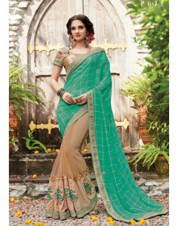 Multi-Colour Pure Viscose Half & Half Saree  - PATANG-19007