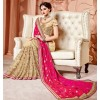 Party Wear Pink & Beige Pure Silk Saree  - 3501