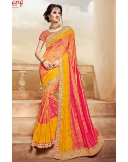Wedding Wear Multi-Colour Saree  - PATANG-3806
