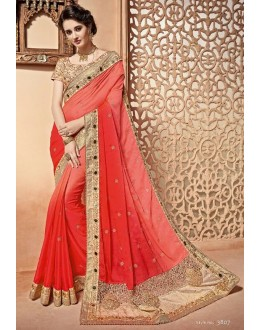 Party Wear Multi-Colour Saree  - PATANG-3807