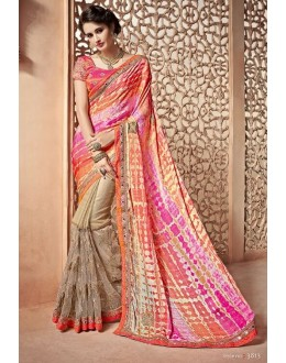 Ethnic Wear Multi-Colour Saree  - PATANG-3813