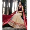 Designer Beige Thread Embroidered Premium Net Lehenga Choli - 11010 ( SS-Kessi-11001 )