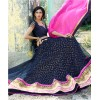 Designer Blue Thread Embroidered Premium Net Lehenga Choli - 11009 ( SS-Kessi-11001 )