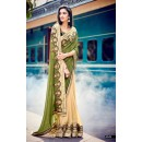 Wedding Wear Georgette Olive Saree - 4049