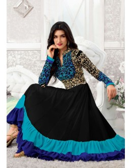 Designer Gorgeous Black Georgette Salwar Suit - EF154